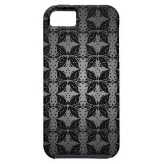 IPhone 5の場合の蝶抽象芸術の生地 iPhone SE/5/5s ケース