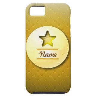 iPhone 5の場合アイコン金ゴールドの星 iPhone SE/5/5s ケース