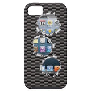 iPhone 5の場合カーボンテンプレートの変更のイメージ iPhone SE/5/5s ケース