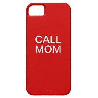 iPhone 5の場合呼出しお母さん iPhone SE/5/5s ケース