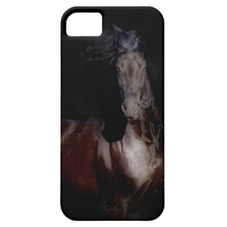 iPhone 5の場合-黒い馬 iPhone SE/5/5s ケース