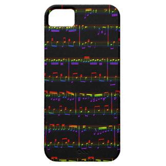 iPhone 5の楽譜の虹 iPhone SE/5/5s ケース
