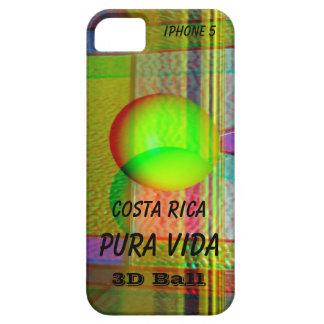 iPhone 5の穹窖3DコスタリカPura Vida iPhone SE/5/5s ケース
