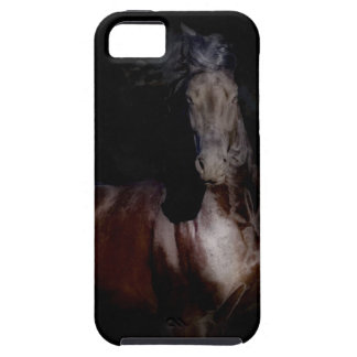 iPhone 5のVibeの場合-黒い馬 iPhone SE/5/5s ケース