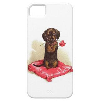 iPhone 5/5Sのやっとそこに場合のダックスフントの子犬 iPhone SE/5/5s ケース
