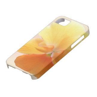 iPhone 5/5Sの場合-オレンジパンジー iPhone SE/5/5s ケース