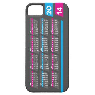 iPhone 5/5S -渡される左のための2014のカレンダーの箱 iPhone SE/5/5s ケース