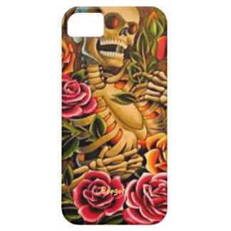 Iphone 5 ID -バラが付いている謝肉祭の骨組 iPhone SE/5/5s ケース