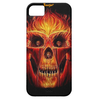 Iphone 5 ID -死神のスカルの炎 iPhone SE/5/5s ケース