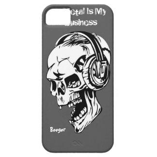 Iphone 5 ID -金属は私のビジネスです iPhone SE/5/5s ケース