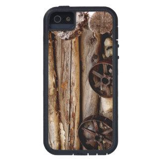 iPhone 5/iPhone 5sケースの丸太小屋及び荷馬車の車輪 iPhone SE/5/5s ケース