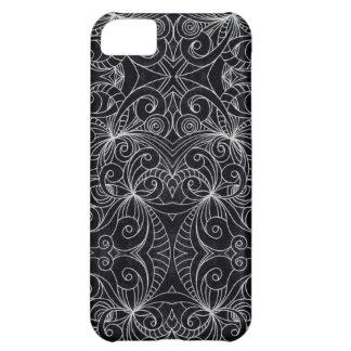 iPhone 5cケースの花の落書きのスケッチ iPhone5Cケース