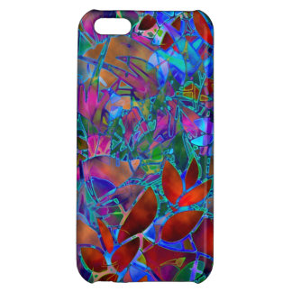 iPhone 5cケースの花柄の抽象芸術のステンドグラス iPhone5C