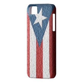iPhone 5sのための織り目加工のプエルトリコの旗の箱 iPhone SE/5/5s ケース