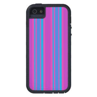 iPhone 5sケース:  マゼンタおよび明るい青い縞 iPhone 5 Case-Mate ケース