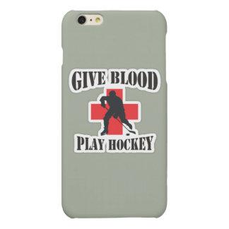 IPhone 6および6Sはと血の演劇のホッケーの場合を与えます