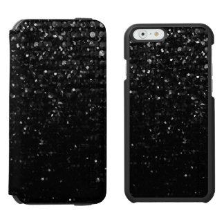 iPhone 6のウォレットケース黒い水晶きらきら光るなStrass iPhone 6/6sウォレットケース