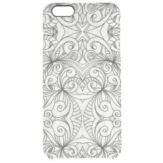 iPhone 6のプラスの場合の花の落書きのスケッチ クリア iPhone 6 Plusケース