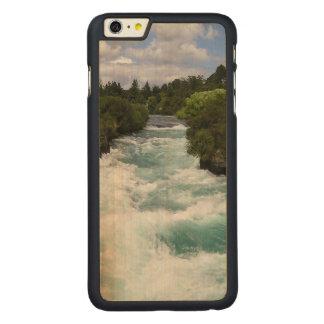 iPhone 6のプラスの細いかえで木箱 CarvedメープルiPhone 6 Plus スリムケース