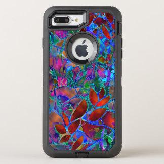 iPhone 6のプラスの花柄の抽象芸術のステンドグラス オッターボックスディフェンダーiPhone 7 Plus ケース