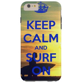 iPhone 6のプラスの電話箱の平静及び波を保って下さい Tough iPhone 6 Plus ケース