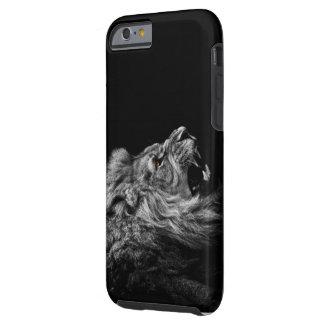 Iphone 6のライオンの黒い箱 ケース