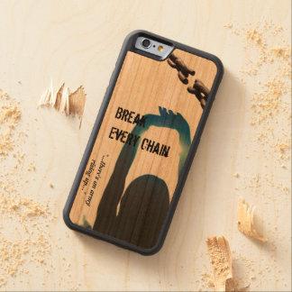 iPhone 6の壊れ目あらゆるチェーンケース CarvedチェリーiPhone 6バンパーケース
