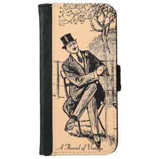 iPhone 6の紳士のヴィンテージのプリントのウォレットケース iPhone 6/6s ウォレットケース