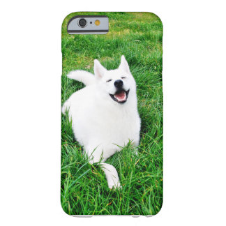 iPhone 6のDogWhiteのハスキー Barely There iPhone 6 ケース