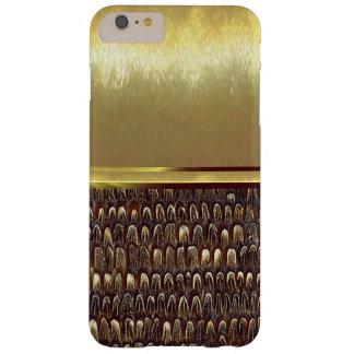 iPhone 6クールな金属パターン金ゴールドのデザインの場合 Barely There iPhone 6 Plus ケース