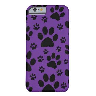 iPhone|6|場合、|紫色|足|プリント、|ペット、|動物 スリム iPhone 6 ケース