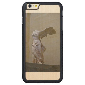 iPhone 6/6Sのための勝利の電話箱の女神 CarvedメープルiPhone 6 Plusバンパーケース