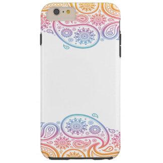 iPhone 6/6sのための虹のペイズリーの携帯電話の箱 Tough iPhone 6 Plus ケース