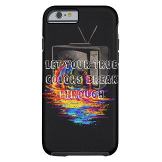 iPhone 6/6sの場合-出血の虹のテレビ ケース