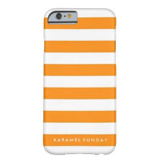 iPhone 6/6sの場合- KSの署名の航海のなオレンジ Barely There iPhone 6 ケース