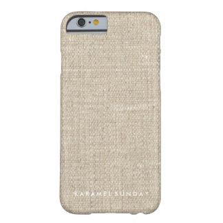 iPhone 6/6sの場合- KSの署名の麻布かバーラップ Barely There iPhone 6 ケース