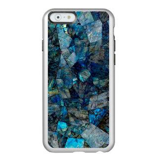 iPhone 6/6sの銀製の曹灰長石の抽象芸術の場合 Incipio Feather Shine iPhone 6ケース
