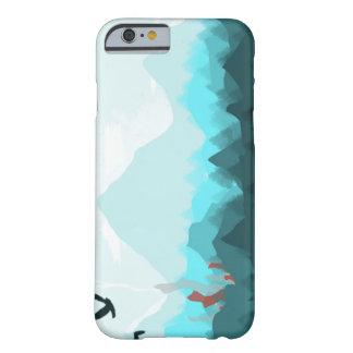iPhone 6/6sは、やっとそこに青い山地を包装します Barely There iPhone 6 ケース