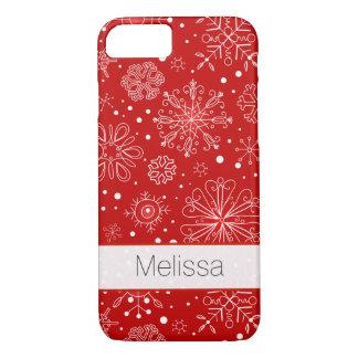 iPhone 7つの場合|の雪片赤と白| iPhone 8/7ケース