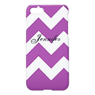 iPhone 7のシェブロンの紫色 iPhone 8/7 ケース