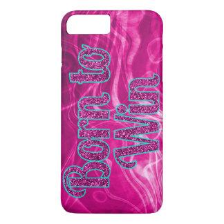 iPhone 7のプラスの場合に勝つこと生まれる女の子らしいグリッター iPhone 7 Plusケース