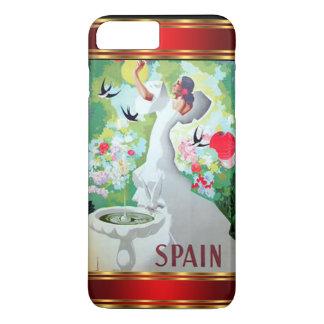 iPhone 7のプラスの場合のヴィンテージスペイン iPhone 8 Plus/7 Plusケース