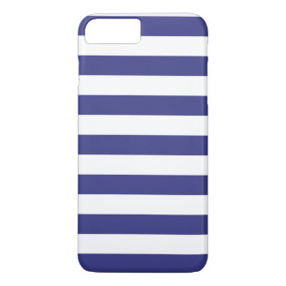 iPhone 7のプラスの場合-はっきりしたなロイヤルブルーは縞で飾ります iPhone 8 Plus/7 Plusケース