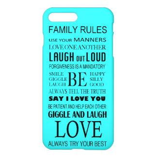 iPhone 7のプラスの場合-家族の規則 iPhone 8 Plus/7 Plusケース