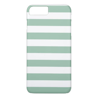 iPhone 7のプラスの場合-灰色のヒスイ緑のはっきりしたなストライプ iPhone 8 Plus/7 Plusケース