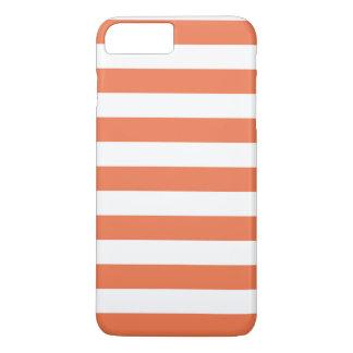 iPhone 7のプラスの場合-珊瑚のはっきりした縞で飾ります iPhone 8 Plus/7 Plusケース