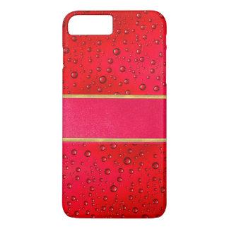 iPhone 7のプラスの赤い雨滴の質の電話箱 iPhone 8 Plus/7 Plusケース