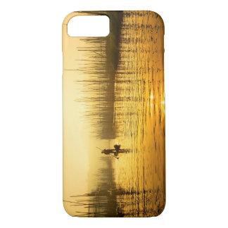iPhone 7の場合のための日の出のプリントの漁師 iPhone 8/7ケース