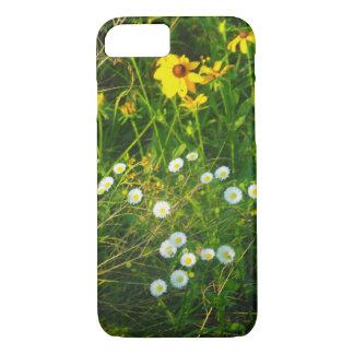 iPhone 7の場合の白くおよび黄色の花 iPhone 8/7ケース