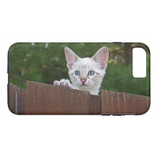 iPhone 7の場合の白の子ネコと堅い穹窖 iPhone 8 Plus/7 Plusケース
